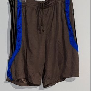 Adidas Men's Blue and Gray Sports Shorts